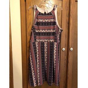 Xhilaration Patterned dress Size XXL
